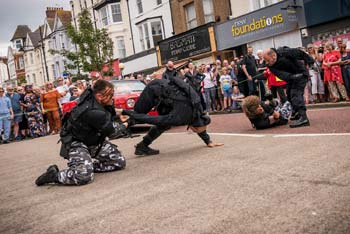 Bond Stunt Action in Bexhill Town Centre - 4 (thumbnail)