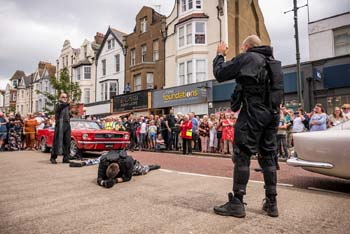 Bond Stunt Action in Bexhill Town Centre - 6 (thumbnail)