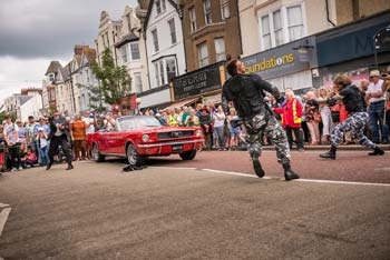 Bond Stunt Action in Bexhill Town Centre - 8 (thumbnail)