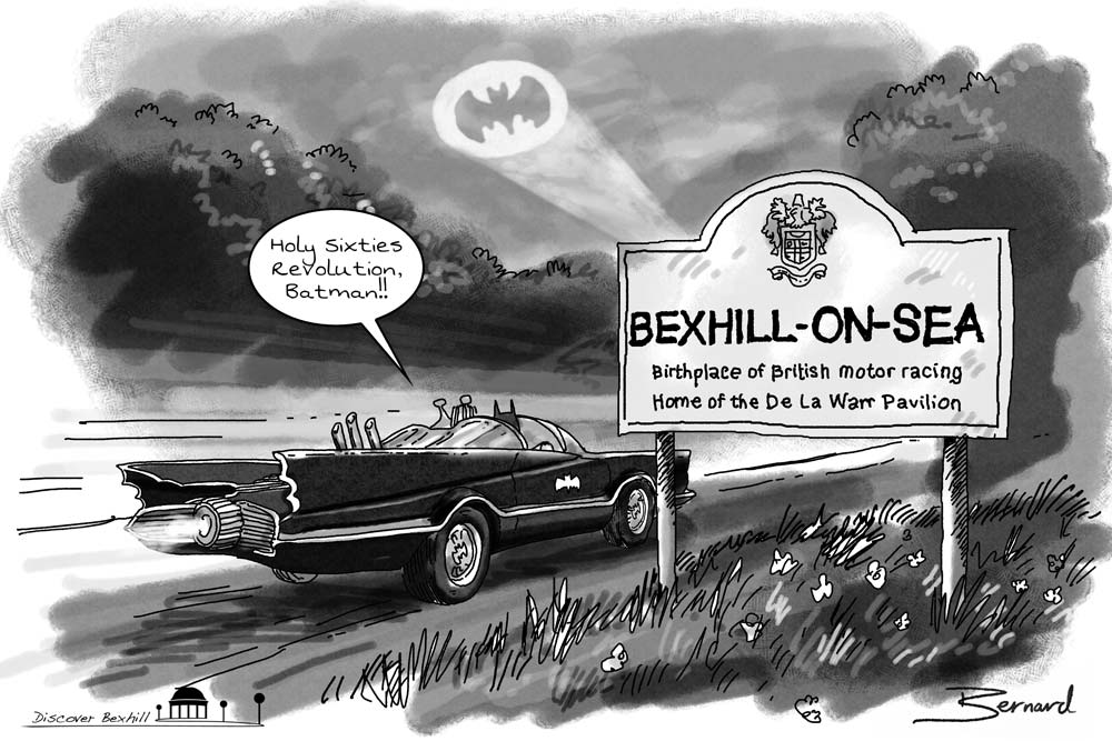 Batman Bexhill Cartoon by Lord Bernard