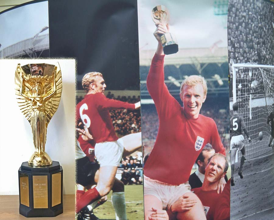 Replica of Jules Rimet World Cup from 1966