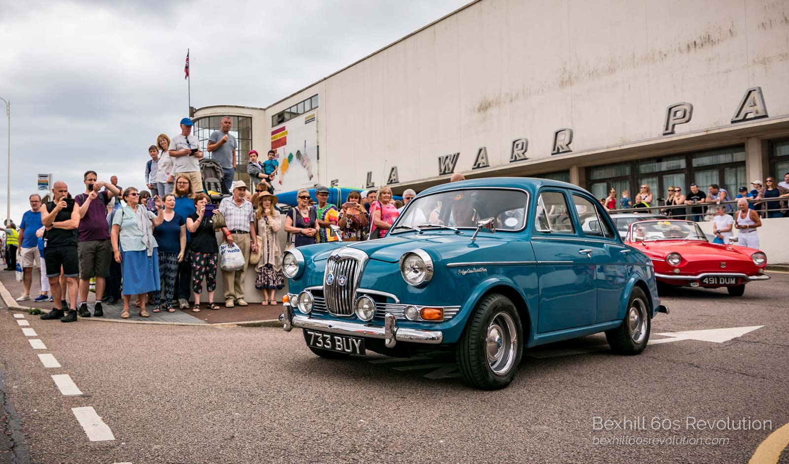 classic cars at the Bexhill 60s Revolution