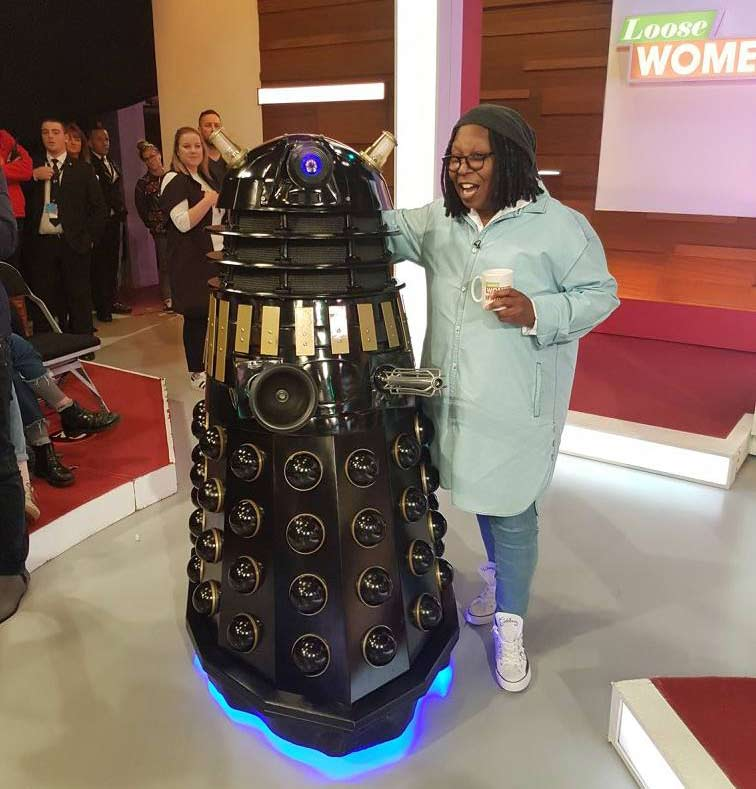 Ace Dalek with Whoopi Goldberg on Loose Women